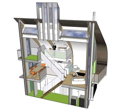 Casa Ecologicamente Correta Tem Emissao Zero De Carbono Reino Unido on Eco Friendly House Plan